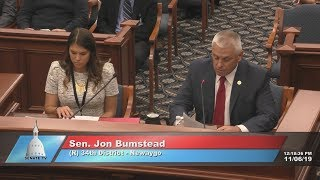 Sen. Bumstead and superintendents testify in support of curriculum reform