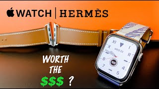 Gambar cover Apple Watch Hermes Single Tour Leather Band Unboxing & Review