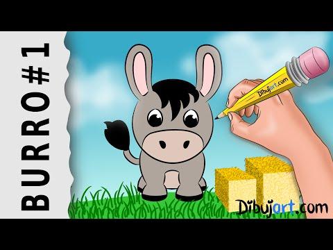 cómo-dibujar-un-burro-fácil-paso-a-paso-#1-—-dibujos-de-la-granja-para-niños