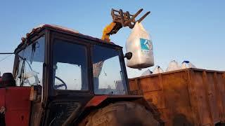 Выращивание озимой пшеницы.  No-till  14.01.2018. Подкормка озимой пшеницы селитрой.