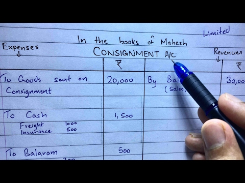Consignment Account Problem 1 - Financial Accounting - By Saheb Academy