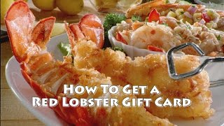 Red Lobster Gift Card | How To A FREE Red Lobster Gift Card