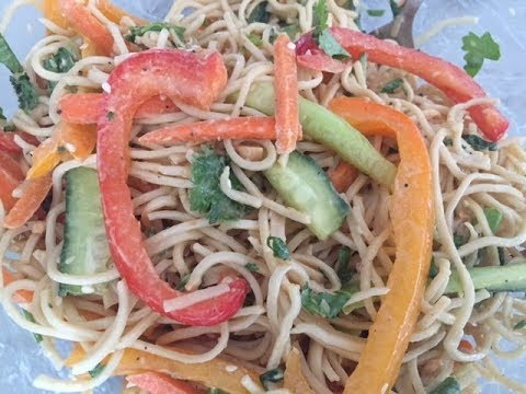 Quick Easy Thai Noodle Salad Recipe | Vegan and Healthy