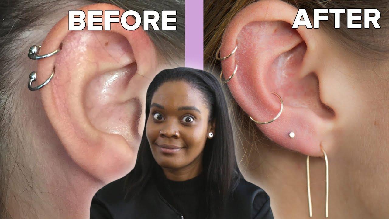 We Got Custom Ear Piercings Youtube