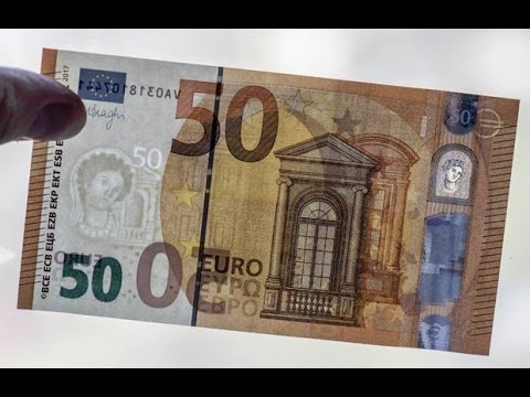 The new 50 euro banknote is in circulation.