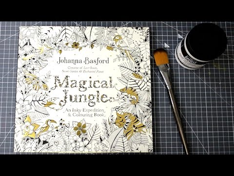 How to Use Watercolor and Markers in your Coloring Books