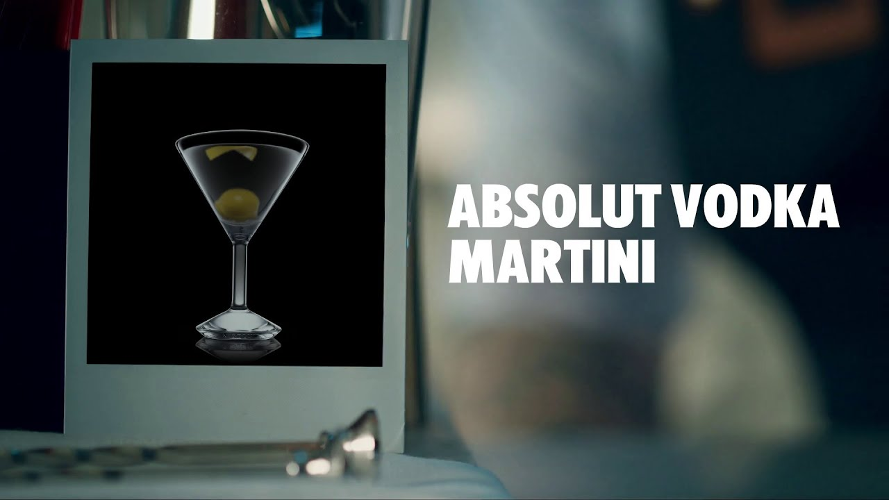 How to make an absolut vodka martini cocktail recipe youtube sisterspd