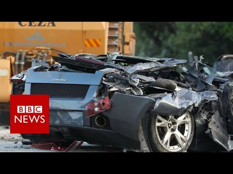 Duterte crushes £4m worth of luxury cars in Philippines - BBC News