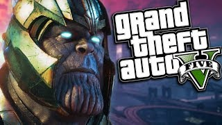 GTA 5 Mods - AVENGERS INFINITY WAR MOD w/ THANOS SUPER POWERS (GTA 5 Mods Gameplay)