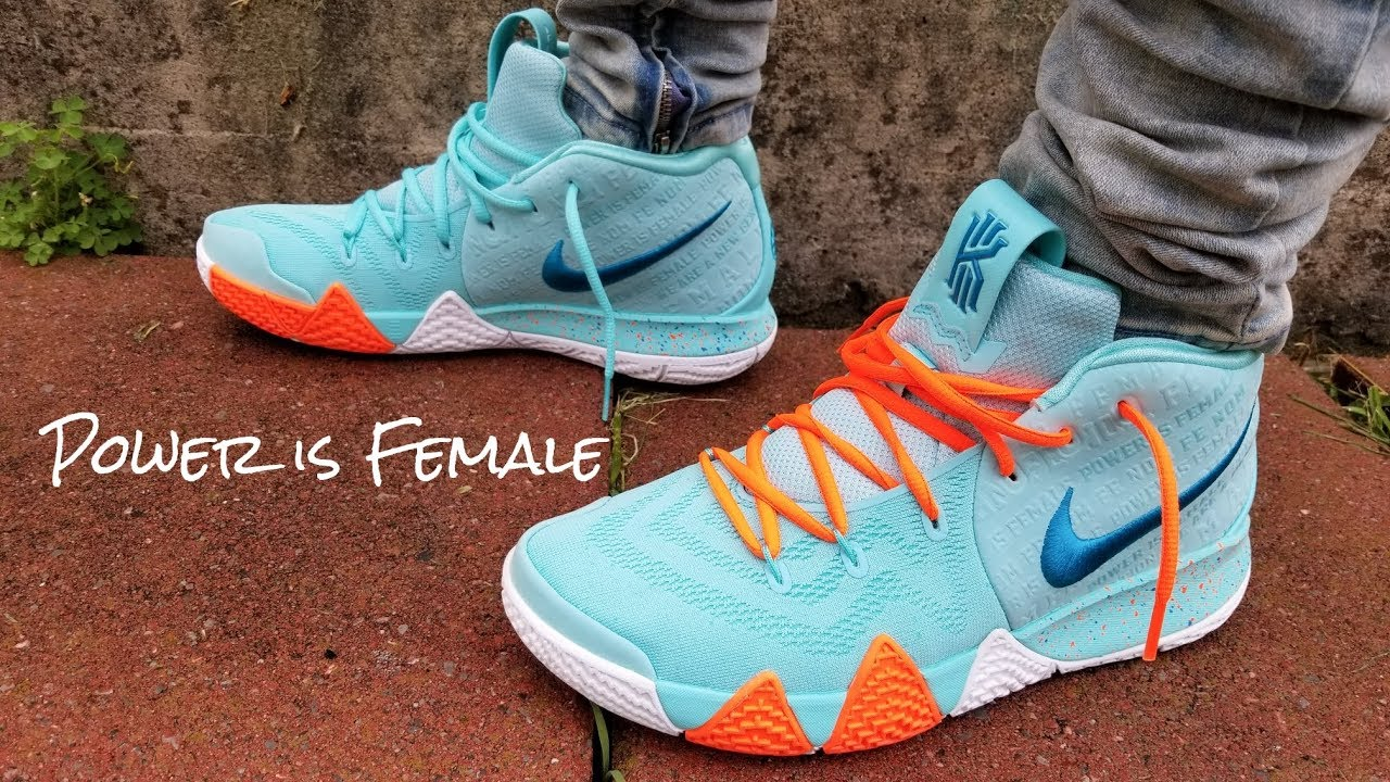official photos 667cc a1dce Nike Kyrie 4 Power Is Female On Feet Review!!!!