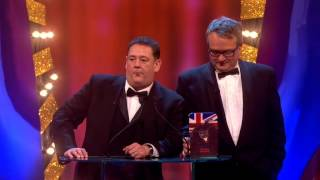 Johnny Vegas and Charlie Higson present an award to Paul Whitehouse