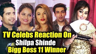 Television Celebs Reaction On Shilpa Shinde Vs Hina Khan | Shilpa Shinde Bigg Boss 11 Winner