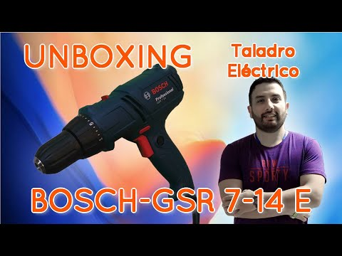 Taladro Bosch   GSR 7-14 E   Alámbrico   400W   UNBOXING  