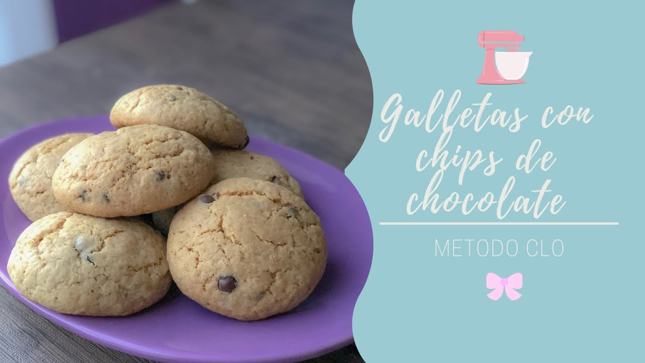 Galletas con chips de chocolate  chocolate chips cookies