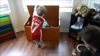 2015 08 05 Kidkraft Austin Toy Box - 2nd Birthday - Reaction