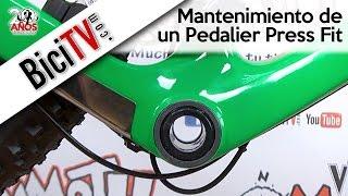 Pedalier Press Fit de bicicleta. Mantenimiento o sustitución