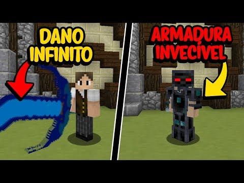 Minecraft: ESPADA DE DANO INFINITO VS ARMADURA INVECÍVEL! (QUEM GANHA?)