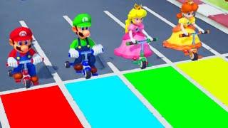 Super Mario Party - Minigames - Mario vs Luigi vs Peach vs Daisy (Master CPU)