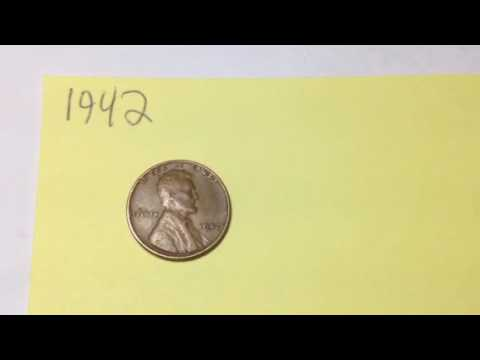 1942 Wheat Penny (Mintage 658 Million, value up to $4)