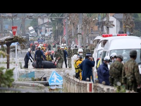 Japan flooding leaves dozens dead and missing