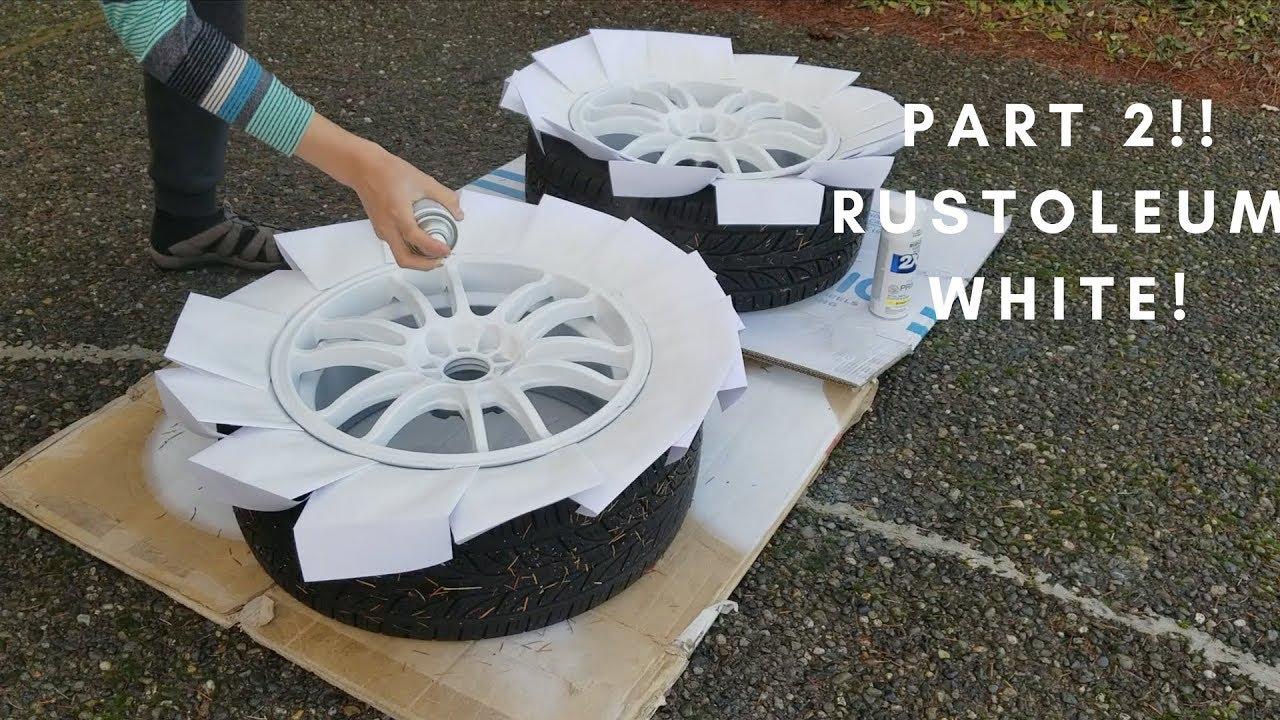10 How To Spray Paint Wheels White Part 2 2005 Honda Civic Si Ep3
