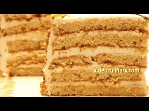 Honey Layer Cake With Sour Cream Frosting Recipe - Video Culinary