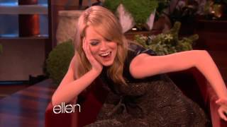 Repeat youtube video Emma Stone Clip from Ellen
