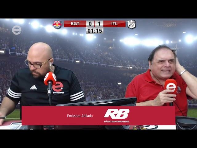 Danilo Janine, do Resenha, surta e comemora gol da Inter de Limeira em transmissão da Educadora