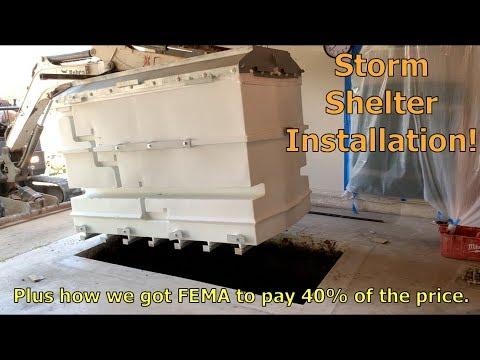 How Our Storm Shelter Was Installed (plus FEMA Paid For Part Of It!)