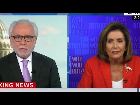 "LOL: Nancy Pelosi MELTS DOWN, Accuses CNN's Wolf Blitzer of Being a ""Republican Apologist&"