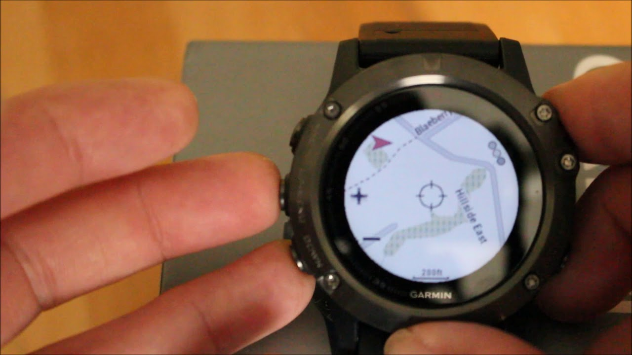 Garmin Fenix 5x - Look at the TOPO Active mapping
