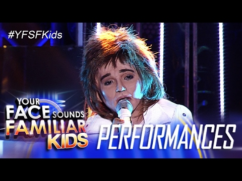 Your Face Sounds Familiar Kids: Justin Alva as Rod Stewart - I Don't Wanna Talk About It