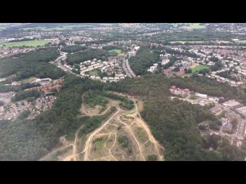 Landing on Runway 32 at Leeds Bradford Airport, Leeds, West Yorkshire, UK - 14th August, 2018