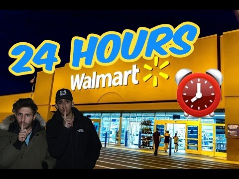 (CREEPY!) 24 HOUR OVERNIGHT WALMART FORT ⏰ | CHASED BY SCARY SECURITY (ALARM WENT OFF ALMOST CAUGHT)