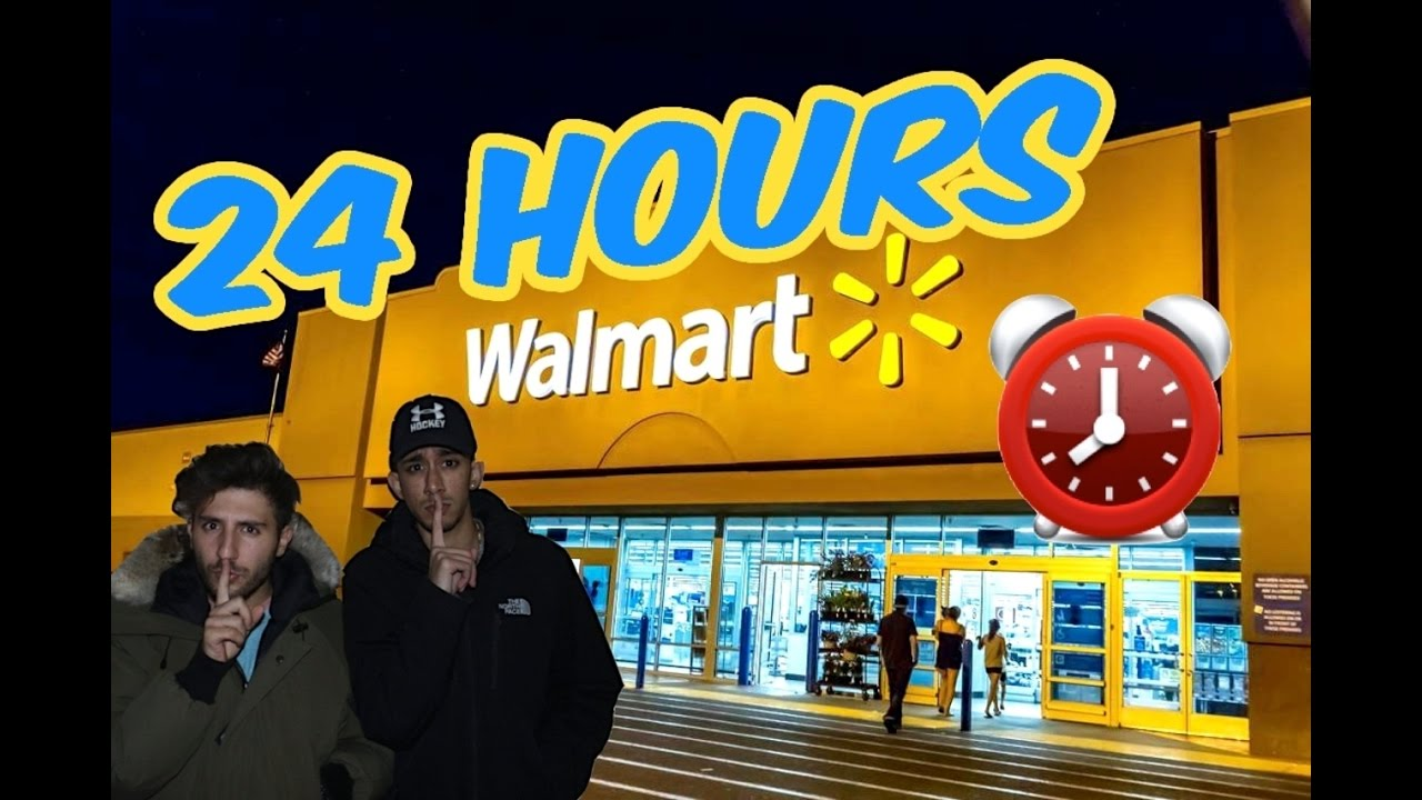 (CREEPY!) 24 HOUR OVERNIGHT WALMART FORT ⏰   CHASED BY SCARY SECURITY  (ALARM WENT OFF ALMOST CAUGHT)