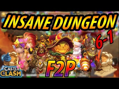 (F2P) How To Beat Insane Dungeon 6-1 -CASTLE CLASH