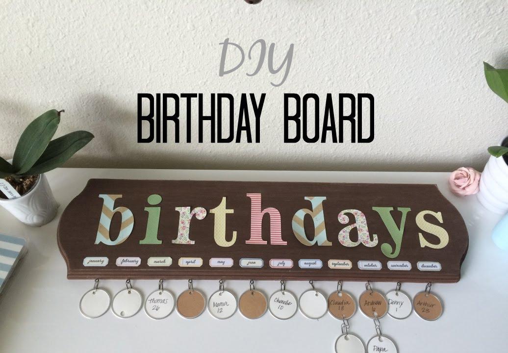 DIY Birthday Board