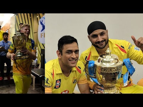 Chennai Super Kings Celebrations in Dressing Room After winning Final IPL 2018 | CSK vs SRH Final
