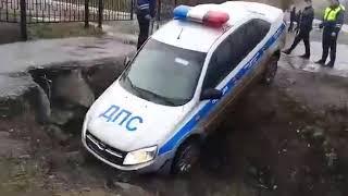 В Медногорске в ДТП попал автомобиль ДПС