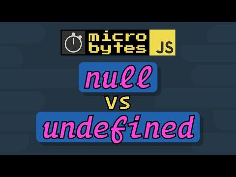 JavaScript Null Vs Undefined - #JavaScriptJanuary
