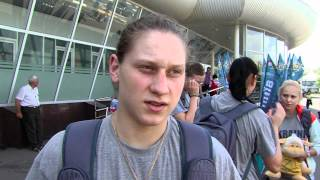 Приліт жіночої збірної з Польщі 22.05.2012