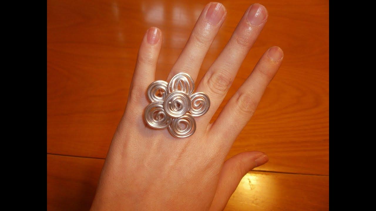 C mo hacer un anillo de alambre con forma de flor - Como hacer flores ...