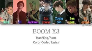 Video GOT7 - BOOM X3 [Color Coded Han Rom Eng] download MP3, 3GP, MP4, WEBM, AVI, FLV Maret 2018