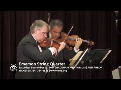 UMS 14-15: Emerson String Quartet | Sept 28