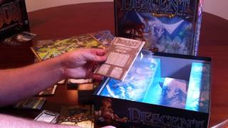 Descent: Journeys in the Dark [Second Edition] unboxing