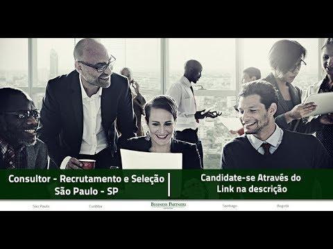 Vaga - Consultor de Recrutamento e Seleção - São Paulo