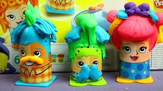 Crazy Cuts / Сумасшедшие прически - Play-Doh - Hasbro - B1155(http://www.MegaDyskont.pl Набор пластилина