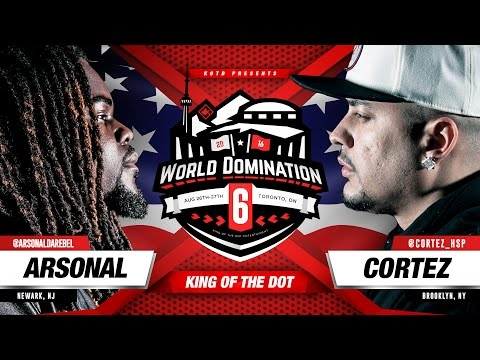 KOTD - Rap Battle - Arsonal vs Cortez | #WD6ix