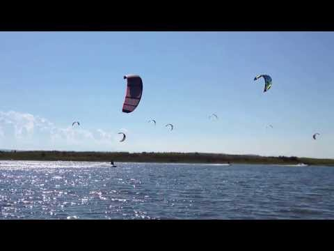 Kiteboarding on Jetty Island, WA