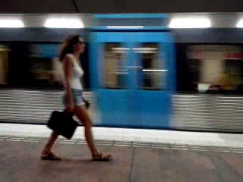 Stockholm underground metro train
